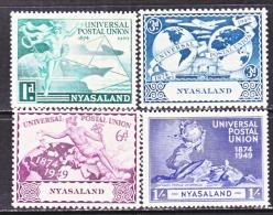 NYASALAND  87-90   *   U.P.U. - Nyasaland (1907-1953)