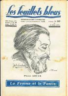 HEB LES FEUILLETS BLEUS ROMAN LA FEMME ET LE PANTIN DE PIERRE LOUYS  N°243 - 1900 - 1949