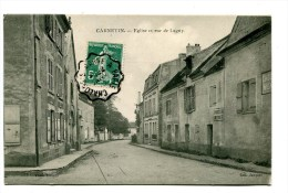 CPA  77   :  CARNETIN  église Et Rue De Lagny    A  VOIR  !!!!!!! - Autres Communes