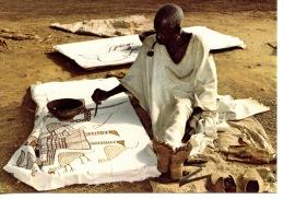 Afrique : République De Côte D´Ivoire - Artiste Peintre à Korhogo (ed Nourault) - Costa De Marfil