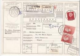 Pakketkaart 13 Dec 1960 Enschede (typerader Korte) - Poststempels/ Marcofilie
