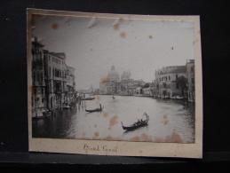 AF. Photo. 48. Ancienne Photo Du Grand Canal à Venise - Lieux