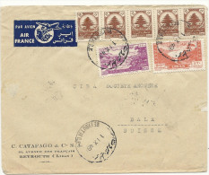 1948 Flugbrief In Die Schweiz - Liban