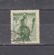 1948/51 - Costumes Regionaux Mi No 897 Et Yv No 742  VORARLBERG - 1945-.... 2nd Republic