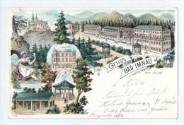 Litho-AK - Gruss Aus Bad Imnau In Hohenzollern - 6 Abbildungen - Gelaufen 7.6.1897 - Deutschland
