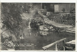Carte Postale Ancienne Japon - The River Bath Of The Daimaru Hot Spring, Nasu - Japan