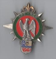 INSIGNE 602° RCR REGIMENT CIRCULATION ROUTIERE FONTAINEBLEAU - DELSART G 4047 - Armée De Terre