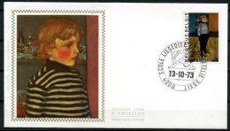 BE   FDC  1686   ---   Philatélie Jeunesse   --  Obl. Liège  --  Z/s  Sur Soie - FDC