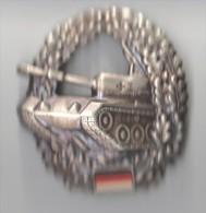 INSIGNE  CASQUETTE ARMEE ALLEMANDE GERMAN BADGE CHAR TANK - Armée De Terre
