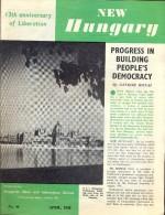 Magazine Revue Tijdschrift -  New Hungary - April 1958 - Revues & Journaux