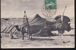 CPA - (Algérie) Campement Au Desert - Tente D'un Chef De Tribu - Argelia