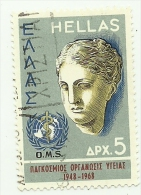 1968 - Grecia 970 O.M.S. C3695, - WHO