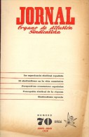 Magazine Revue Tijdschrift Jornal - Organo De Difusion Sindicalista - Nr 70 - Especial Expo Brussel 1958 - Livres, BD, Revues