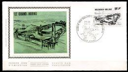 BE   FDC  1946   ---   Grand Hornu  --  Obl. Ciney  --  Z/s  Sur Soie - FDC