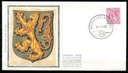 BE   FDC  1971   ---   Chiffre Sur Lions Et Banderole  --  Obl. Bruxelles  --  Z/s  Sur Soie - FDC
