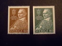 SWEDEN  1966     MICHEL 544/45   SODERBLOM        MNH **  (054300-NVT) - Usati