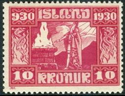IJSLAND 1930 10kr Parlement PF-MNH - 1918-1944 Autonomous Administration