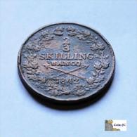 Suecia - 2/3 Skilling - 1842 - Schweden
