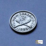 Nueva Zelanda - 3 Pence - 1933 - New Zealand