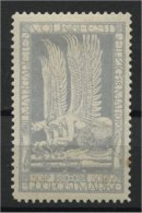 GERMANY, SEMI OFFICIAL AIRPOST STAMP 1912 UNUSED HINGED - Airmail