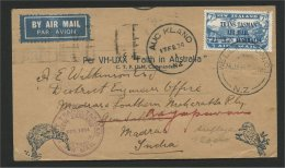 NEW ZEALAND, TRANS-TASMAN AIR MAIL 1934 TO INDIA! - Poste Aérienne