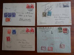 FRANCE / SWITZERLAND 6 DOCUMENTS WITH TAX / DUE STAMPS - 1859-1955 Lettres & Documents
