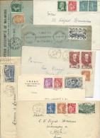 1860/1959 - SELECTION d'ENVIRON 180 ENVELOPPES + CARTES + ENTIERS POSTAUX + PNEUMATIQUES ...- BON ETAT GENERAL