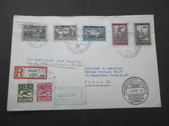 Dantzig Gdansk N° 231/239 Sur LR Par Zeppelin (28.7.32) Signée Roumet - Dantzig