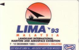 MALAYSIA MALAISIE LIMA 93 MARITIME AEROSPACE EXHIBITION  10$ UT - Malaysia