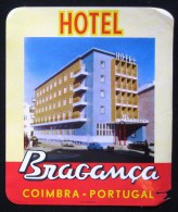 HOTEL PENSAO RESIDENCIAL BRAGANCA COIMBRA TAG DECAL STICKER LUGGAGE LABEL ETIQUETTE AUFKLEBER PORTUGAL - Etiketten Van Hotels