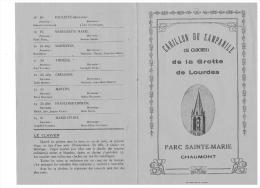 CARILLON DU CAMPANILE (25 CLOCHES )  De La GROTTE De LOURDES PARC SAINTE MARIE à CHAUMONT - Vieux Papiers