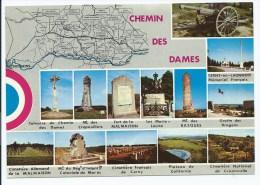 CP LE CHEMIN DES DAMES, LIEUX DE GUERRE 14-18, PREMIERE GUERRE MONDIALE, AISNE 02 - France