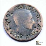 España - 10 Céntimos - 1870 - Resello - Ohne Zuordnung
