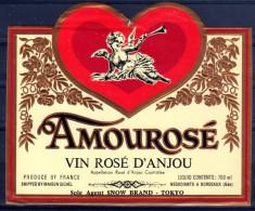 THEME PERSONNAGES étiquette De Vin ROSE D ANJOU / ANGE COEUR - Cuori