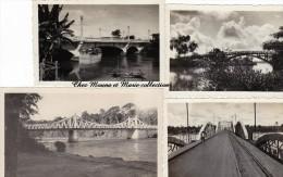 LOT DE 4 PHOTOS DE PONTS ANNEES 1930 INDOCHINE 2348 - Luoghi