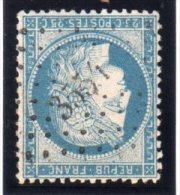 """FRANCE : N° 60 . PC Du GC 3554 . """" ST CLAUDE SUR BIENNE """" . (38) . TB . - Marcophily (detached Stamps)"""