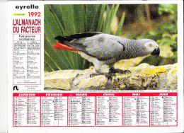 Almanach Des PTT 1992, Perroquet / Poissons Gaterins (mer Rouge), EYRELLE - Calendriers