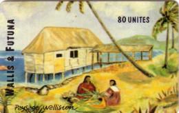 WALLIS ET FUTUNA WF10 PAYSAGE WALLISIEN MAISON WALLISIENNE 80U UT 2000 EX SUPERBE - Wallis And Futuna