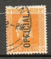N ZELANDE  Service 2p Jaune  1916-26  N°56 - Officials