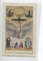 SUPERBE Image Religieuse Pieuse Canivet DENTELLE DEVOIR  CHRIST CROIX  BOUASSE LEBEL PARIS - Images Religieuses