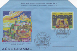 Vatican City 1986 A 24 50th Anniversary Of The Transfer Of The Specola, FDC Aerogramme - FDC