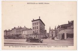 Neuville Sur Saône - Les Quais De Saône - Les Hôtels - La Place De L'Eglise - L'Hôtel Du Lion D'Or - Circulé Sans Date - Neuville Sur Saone
