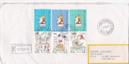 Vatican City 1987 St Nicholas, Registered Cover Sent To Australia - Vatican