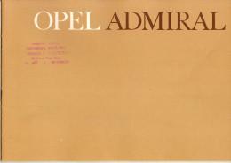 OPEL ADMIRAL CATALOGUE 8 PAGES 1964 Format A4 FRANCE - Publicités