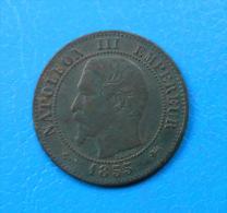 PETIT PRIX Napoléon III 2 Centimes 1855 D LYON Ancre , Petit D , Grand Lion ASSEZ RARE ! - Francia