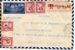 Indochine. Enveloppe. Recommandé. Luang Prabang - Briefe U. Dokumente
