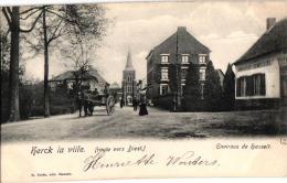 Herk De Stad Herck La Ville 2 CP  Edit Delée Weg Naar Diest  Boomkweker Henri Gevers  Café      Zicht Dorp - Herk-de-Stad