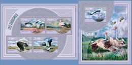 nig14414ab Niger 2014 Birds Storks 2 s/s