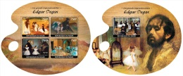 Nig14420ab Niger 2014 Painting The Great Impressionists Edgar Degas 2 S/s - Impressionisme
