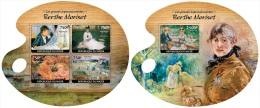 Nig14421ab Niger 2014 Painting The Great Impressionists Berthe Morisot 2 S/s - Impressionisme